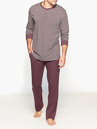 6df90773be1 La Redoute Collections Pyjama met lange mouwen en hals met knooplijst