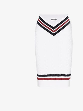 Y / Project Y/Project high-waisted contrast stripe knitted midi skirt