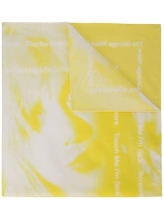 TAKAHIROMIYASHITA TheSoloist. Lenço The Grunge Years com estampa - Amarelo