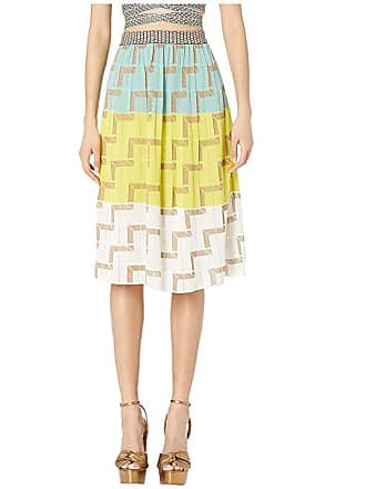 8f830ca05b M Missoni Midi Skirt with Geometric Stitch (Multi) Womens Skirt