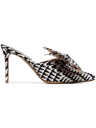 899353f4c Alexandre Vauthier black and white Kate 90 houndstooth print bow embellished  mules