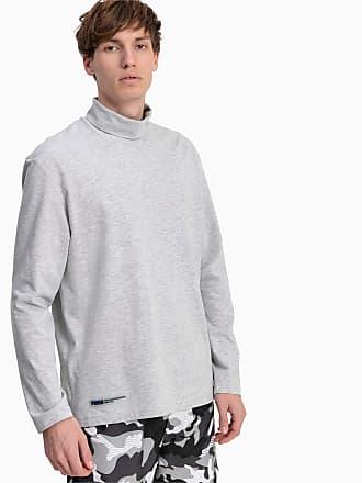Puma Turtleneck Long Sleeve Mens T-Shirt, Light Grey Heater, size 2X Large, Clothing