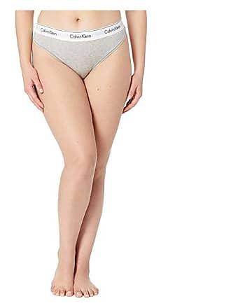 942703af06 Calvin Klein Underwear Plus Size Modern Cotton Thong (Grey Heather) Womens  Underwear