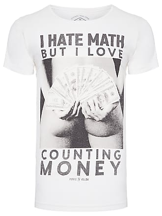 PURPLE YELLOW CAMISETA MASCULINA COUNTING MONEY - OFF WHITE
