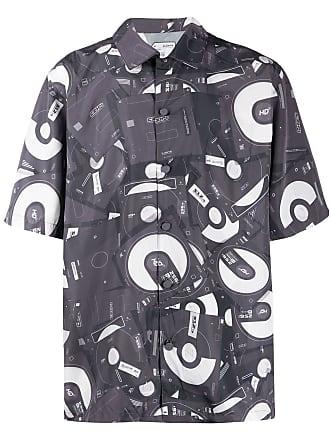 C2H4 Camisa com estampa - Cinza