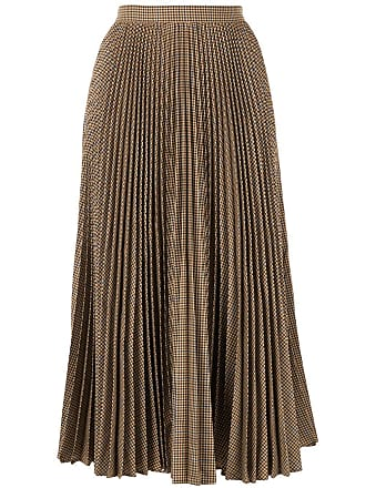 1d4e694562 Gucci houndstooth check pleated skirt - Brown