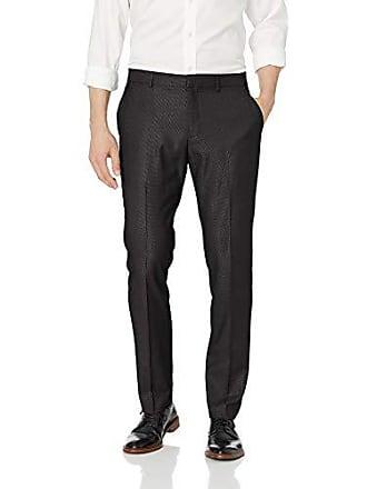Perry Ellis Portfolio Very Slim Nailhead Mens Dress Pant, Black, 36x29