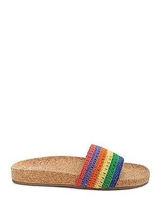 Forever 21 Forever 21 Rainbow Striped Sandals Pink/multi
