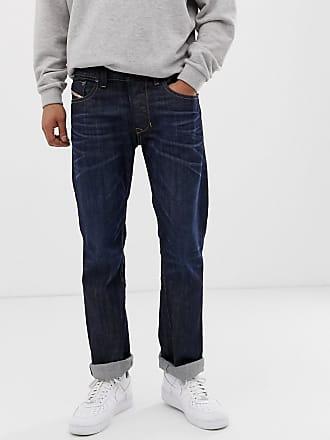 Diesel Larkee straight fit jeans in 0806W dark wash-Blue