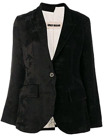 Uma Wang floral jacquard blazer - Black