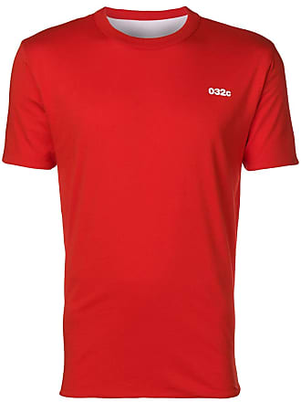 032c contrast logo T-shirt - Red