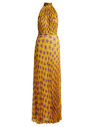 a1c0192b3be73 Raquel Diniz Giovanna Floral Print Silk Gown - Womens - Yellow Print