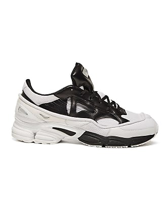 3c5ae18854f8 adidas by Raf Simons Black   White Mens Cream Replicant Ozweego Sneakers -  The Webster