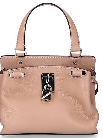 3643d042ffcf6 Valentino Handtasche PIPER Kalbsleder Nieten Gold Logo beige