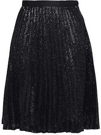 35ad49fde Joie Joie Woman Jadian Sequined Pleated Chiffon Skirt Black Size 12