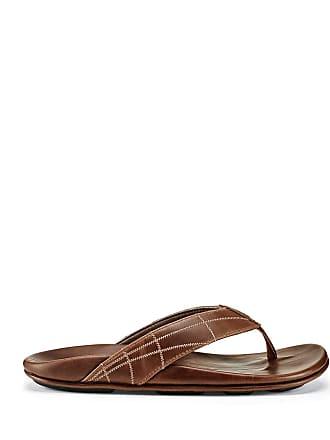 fdea3abb99b Olukai Mens Hokulea Kia Embrodiered Leather Thong Sandals