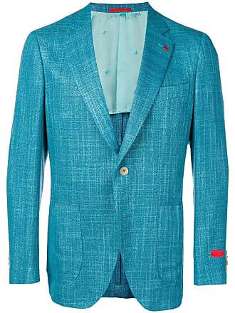 Isaia tweed blazer - Blue
