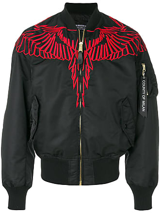 Marcelo Burlon embroidered wing bomber jacket - Black