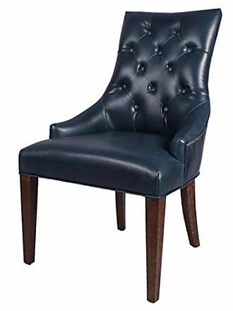 New Pacific Direct 198338B-V05 Celestia Bonded Leather Tufted, Set of 2 Dining Chairs, Vintage Blue