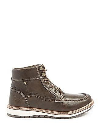 21 Men Men Xray Faux Leather Boots at Forever 21 Brown
