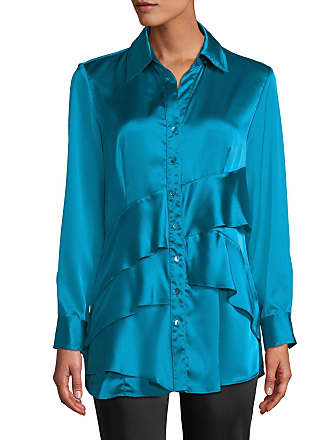 26766fed4fd0f9 Finley Jenna Long-Sleeve Button-Front Tiered Ruffle Satin Blouse