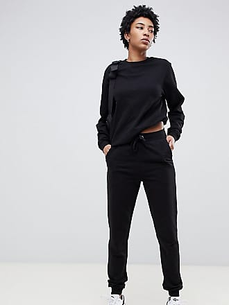 6f6b286ce32 Asos Tall ASOS DESIGN Tall ultimate sweat and jogger with tie tracksuit -  Black