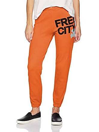 Freecity Womens Featherweight Sweatpant, OrangeMachine, Medium