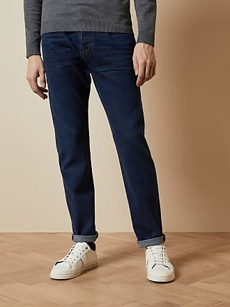 Ted Baker Straight Mid Wash Jeans in Blue SOLANG, Mens Clothing