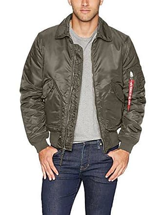 Alpha Industries Mens CWU 45/P Slim Fit Flight Jacket, Replica Grey, L