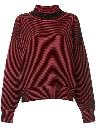 Nagnata Suéter gola alta de tricô canelado - Vermelho