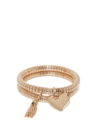 Forever New Haven Heart and Tassel Bracelets - Gold - 00