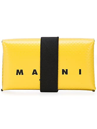 Marni logo print wallet - Yellow