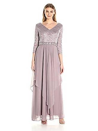 27d2ba3239373 Alex Evenings Womens Long Lace Top Empire Waist Dress, Vintage Rose, 12