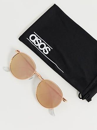 d297b2c77e7 Asos 90s metal round sunglasses in rose gold flash lens - Gold