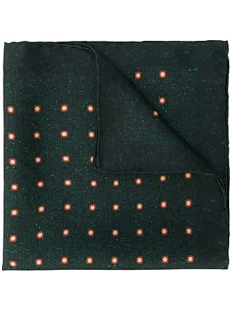 Kiton dotted print scarf - Green