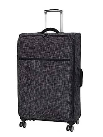 IT Luggage 30.5 Stitched Squares Lightweight Case, Black