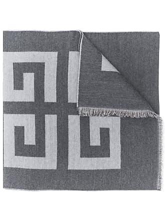Givenchy Echarpe com logo estampado - Cinza