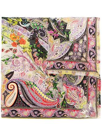 Etro paisley floral print scarf - Black