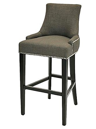 New Pacific Direct 108530-HS01 Charlotte Fabric Bar Stool Furniture, Toffee Brown