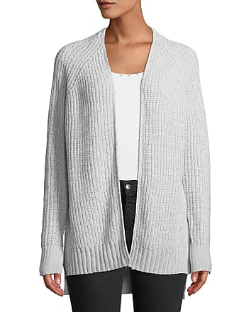 Neiman Marcus Chenille Open-Front Ribbed Cardigan