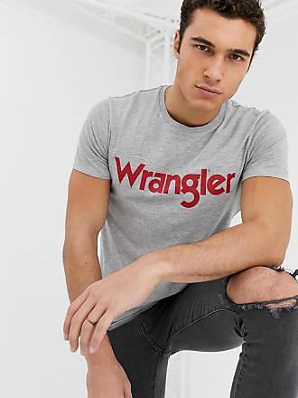 Wrangler T-shirt grigia con logo-Grigio