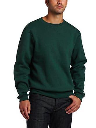 Soffe Mens Training Fleece Crew Sweatshirt, Dark Green, XX-Large