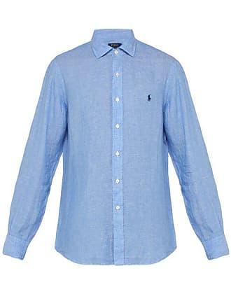 94472ba23f5a5 Polo Ralph Lauren Chemise en lin à col italien et logo brodé