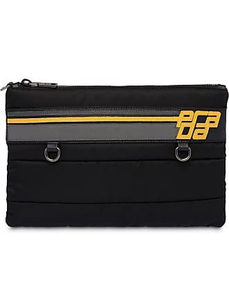 50a455bf39b Prada Stitched fabric document holder - Black