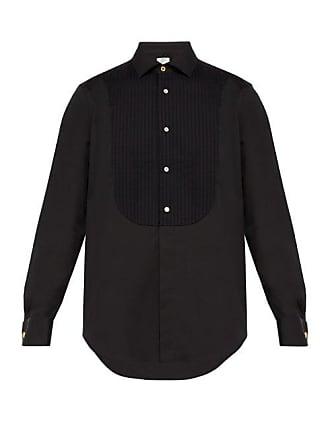 Paul Smith Pleated Bib Stretch Cotton Blend Evening Shirt - Mens - Black
