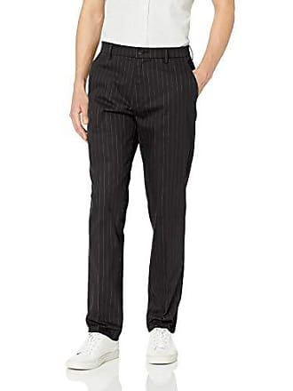 Goodthreads Mens Athletic-Fit Wrinkle Free Dress Chino Pant, Black Pinstripe 33W x 34L