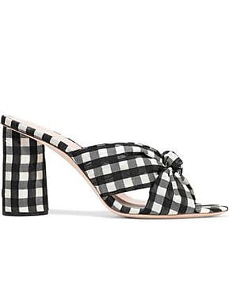 Loeffler Randall Loeffler Randall Woman Knotted Gingham Organza Mules Multicolor Size 6.5