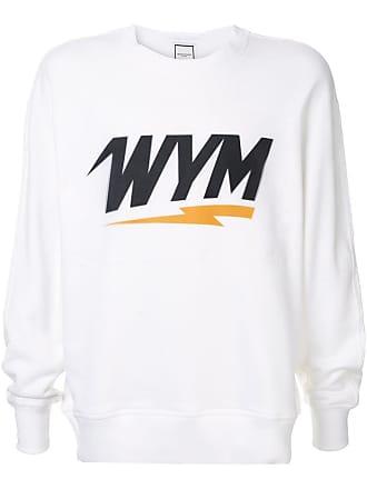 Wooyoungmi Moletom com estampa de logo - Branco