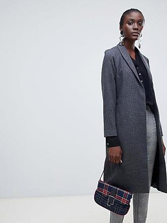 Vero Moda aware check longline coat - Gray