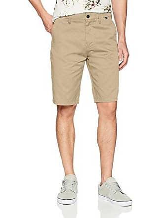 Hurley Mens Icon Chino Regular Fit 21 Shorts, Khaki, 32
